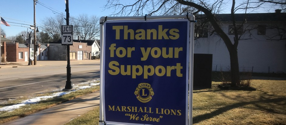 "Marshall Lions would like to ""Thank"" everyone for there support at our Fisheree"