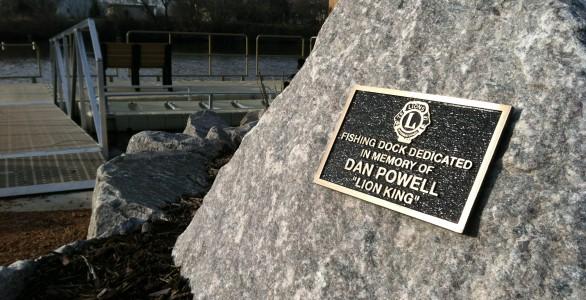 Lions Park Pier Dedicated to Lion Dan Powell