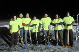 Blue Balls take 3rd in Broomball Tourney