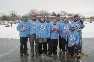 Frozen Ballers take the Broomball Title again.